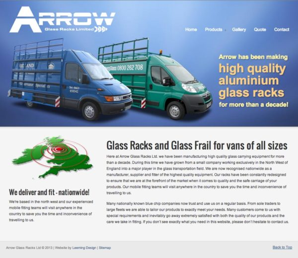 Arrow Glass Racks