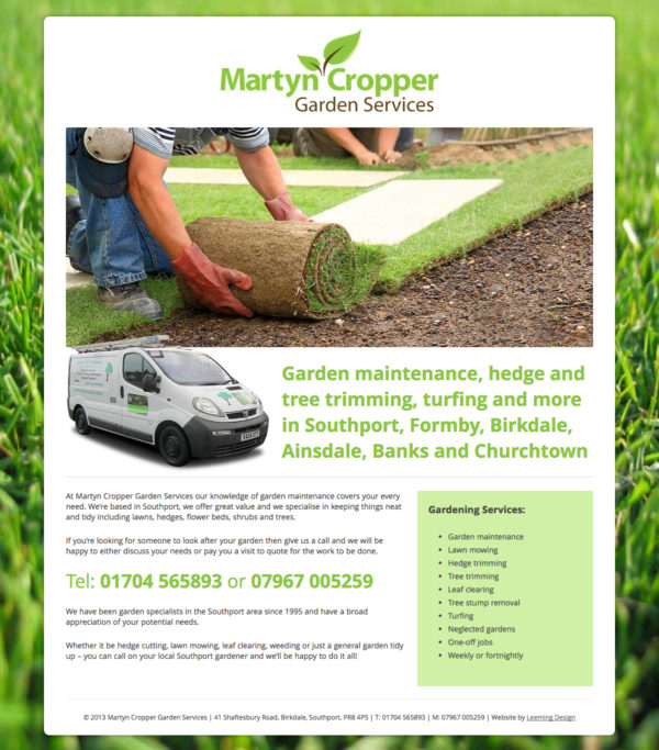 Martyn Cropper Website