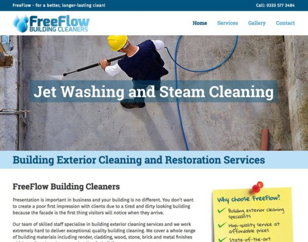 Freeflow screen | Website Design Southport by Leeming Design