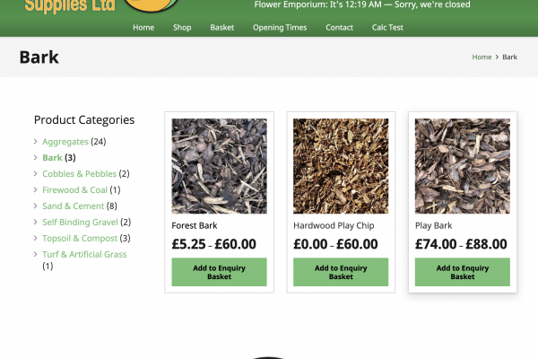 eCommerce web design in Southport for Massams Supplies