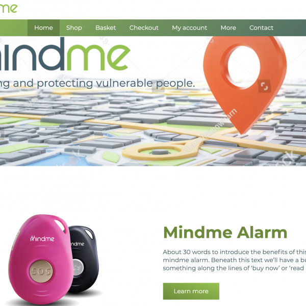 eCommerce web design in Southport for Mindme